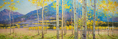Nature Scene Painting - Maroon Bells by Gary Kim