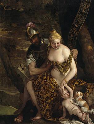 Mars Painting - Mars, Venus And Cupid by Paolo Veronese