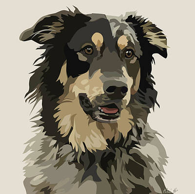 Pet Portrait Digital Art - Marvelous Mix II by Kris Hackleman