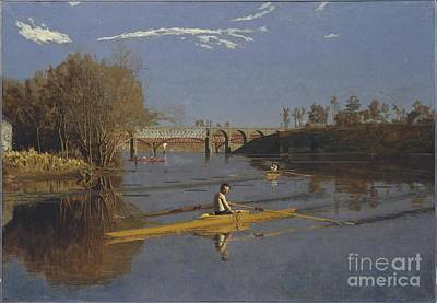 Scull Painting - Max Schmitt In A Single Scull by Celestial Images