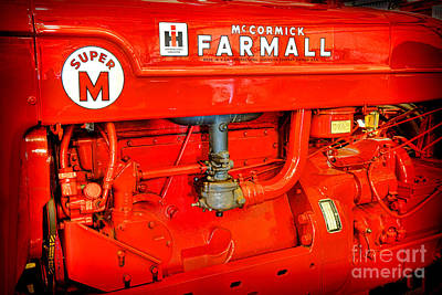 Machinery Photograph - Mccormick Farmall Super M by Olivier Le Queinec