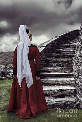 Medieval Woman Print by Amanda Elwell