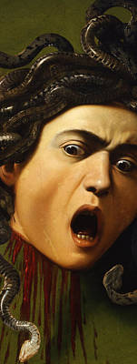Bizarre Painting - Medusa by Caravaggio