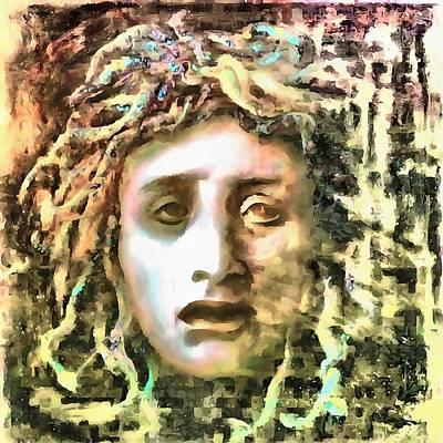 Gorgon Painting - Medusa by Tracey Harrington-Simpson