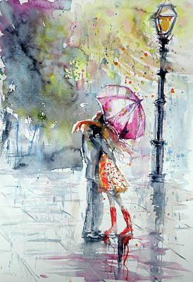 Umbrella Painting - Meeting by Kovacs Anna Brigitta