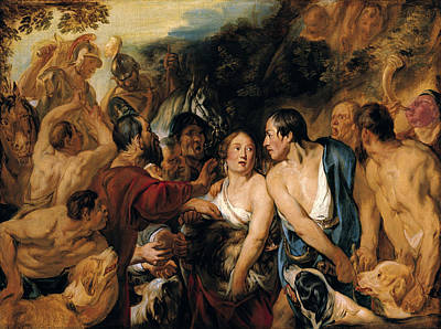 Jacob Jordaens Painting - Meleager And Atalante by Jacob Jordaens