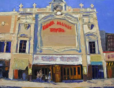 Bronx Painting - Memories Loews Paradise Bronx by Gail Eisenfeld