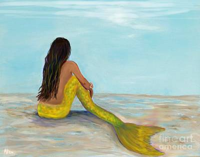 Painting - Mermaid Sunny by Leslie Allen