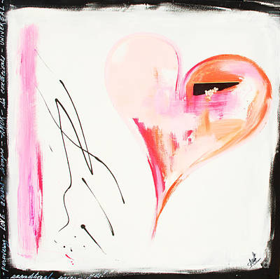 Anahi Decanio Mixed Media - Merry Berry Heart by Anahi DeCanio