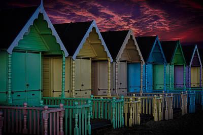 Mersea Island Beach Huts Print by Martin Newman