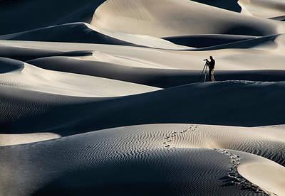 Plexiglas Photograph - Mesquite Flat Dunes 1957 by Bob Neiman