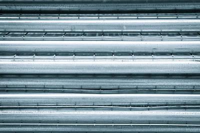 Metal Poles Print by Tom Gowanlock