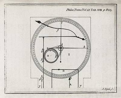 1759 Photograph - Metalline Thermometer, 18th Century by Middle Temple Library