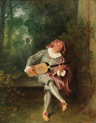 Antoine Watteau Painting - Mezzetin by Antoine Watteau