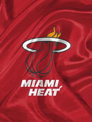 Miami Heat Jersey Digital Art - Miami Heat by Afterdarkness