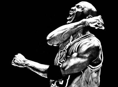 Jordan Drawing - Michael Jordan by Jake Stapleton