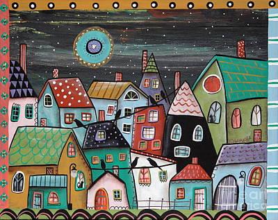 Modern Folk Art Painting - Midnight by Karla Gerard