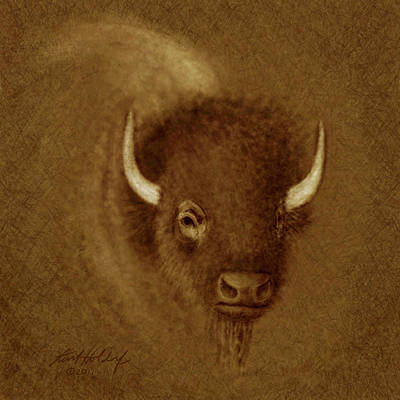 Bison Digital Art - Mighty Buffalo by Kurt Holdorf