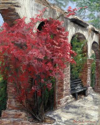 Mission San Juan Capistrano Painting - Mission Arches by Brenda Williams