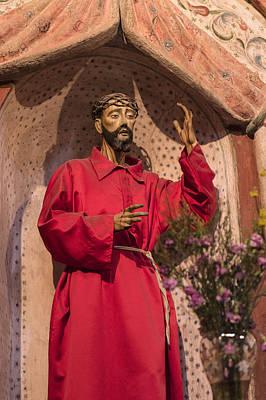 Mission San Xavier Del Bac - Interior Statue - Tucson Arizona Print by Jon Berghoff