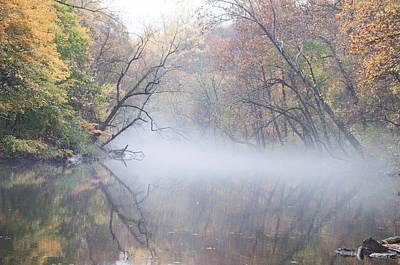 Wissahickon Creek Photograph - Mist On The Wissahickon by Bill Cannon