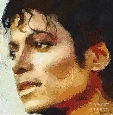 Michael Jackson Digital Art - M J by Dragica Micki Fortuna