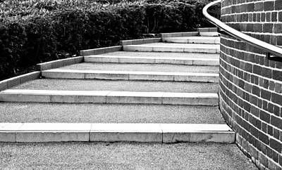 Modern Stone Steps Print by Tom Gowanlock