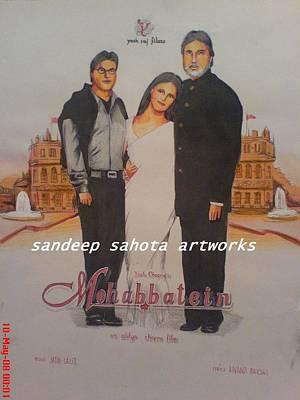Catherine Jackson Painting - Mohabbatein by Sandeep Kumar Sahota