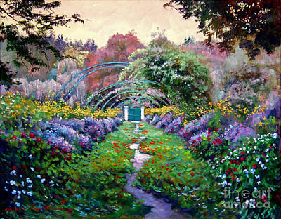 Pathway Painting - Monet by David Lloyd Glover