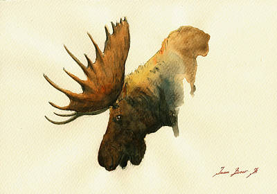 Moose Painting - Moose by Juan  Bosco