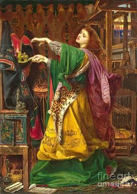 Morgan Le Fay Print by Frederick Sandys