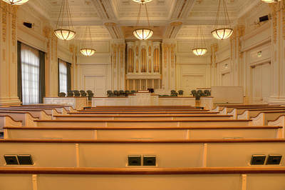 Mormon Chapel Interior Salt Lake Utah. Original by Gino Rigucci