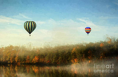 Country Scenes Photograph - Morning Flight by Darren Fisher