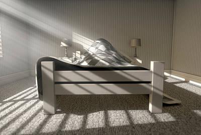 Bedside Table Digital Art - Morning Sleep In by Allan Swart