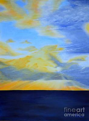 Morning Storm Front Print by Mary Deal