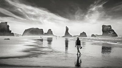Morning Walk At The Beach Original by Eduard Moldoveanu