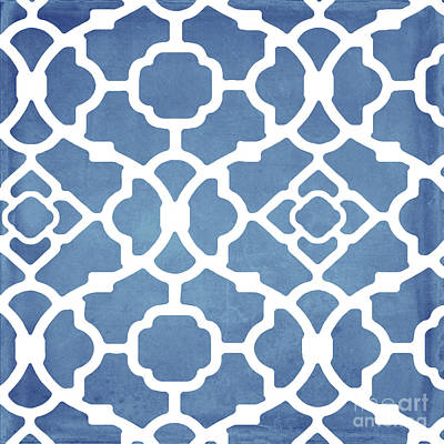 Moroccan Blues Print by Mindy Sommers