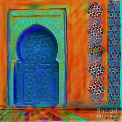 Morocco Painting - Morroccon Door by Seema Sayyidah