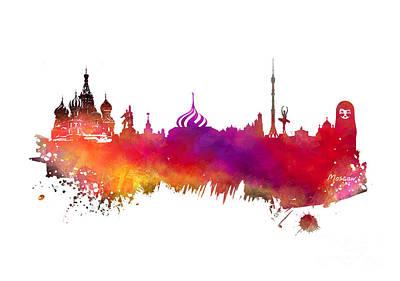 Moscow Skyline Digital Art - Moscow Skyline by Justyna JBJart