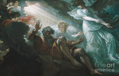 Testament Painting - Moses Shown The Promised Land by Celestial Images