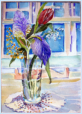 Iris Drawing - Mother's Day by Mindy Newman