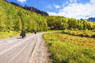 San Juan Digital Art - Motor Thru Colorado II by Jon Glaser