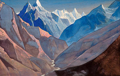 Mount Painting - Mount M by Nicholas Roerich