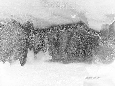 Winter Storm Mixed Media - Mountain In Winter by Lenore Senior