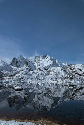 Mountain Photograph - Mountain Reflection by Frank Olsen