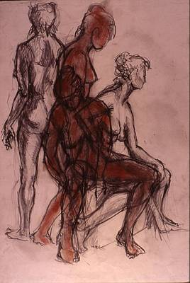 Male Nude Drawing Drawing - Movement by Chris  Riley