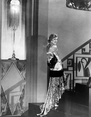 Evening Gown Photograph - Movie Star Olga Baclanova by Underwood Archives