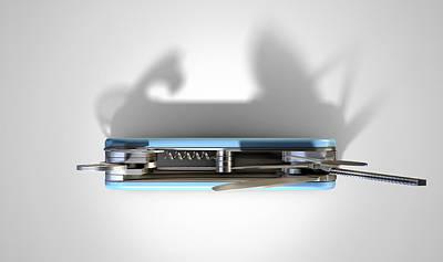 Camping Digital Art - Multipurpose Penknife by Allan Swart