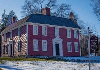 Munroe Photograph - Munroe Tavern 1735, Lexington Massachusetts by Jean-Louis Eck