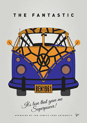 Batman Digital Art - My Superhero-vw-t1-the Thing by Chungkong Art